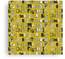 ABC yellow Canvas Print
