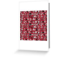 ABC red Greeting Card