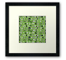 ABC green Framed Print