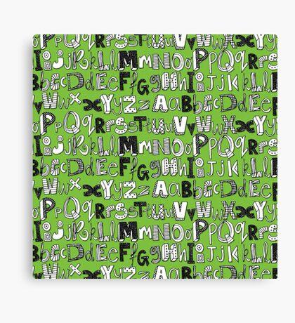 ABC green Canvas Print