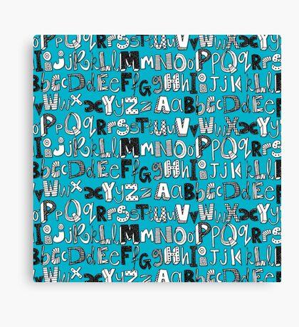 ABC blue Canvas Print
