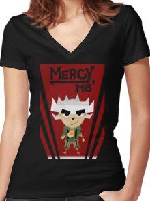 Mercy, Me - Modern Rue Women's Fitted V-Neck T-Shirt