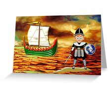 Toon Boy 15 Viking Boy - all products Greeting Card