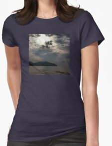 LANDSCAPE MIRROR Womens Fitted T-Shirt