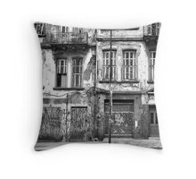 old street and stairs Throw Pillow