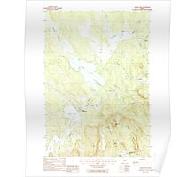 Maine USGS Historical Map Chemo Pond 460312 1988 24000 Poster