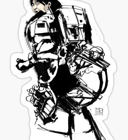 Robot -Girl Sticker
