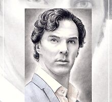 Benedict Cumberbatch miniature by wu-wei