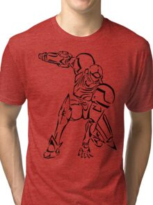 Samus Aran Celtic Tri-blend T-Shirt