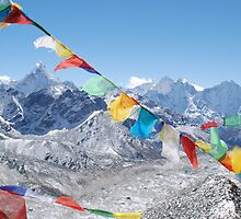 Himalayas over the Khumbu by laurette