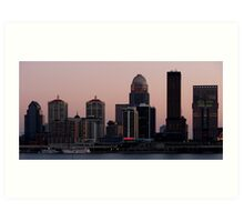 Skyline of Louisville at Dusk Art Print
