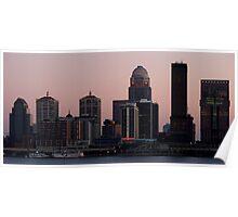 Skyline of Louisville at Dusk Poster