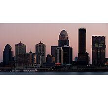 Skyline of Louisville at Dusk Photographic Print