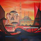 Contemporary Figuratist Artist: Louis Toffoli's (1907 -1999)  Istanbul by taiche
