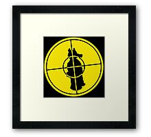 QuasiTarget - Yellow Framed Print