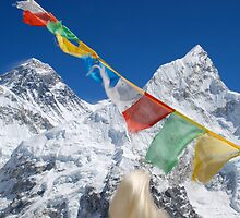 Everest and Nuptse by Laurette Ruys