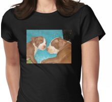 The Big Soft Blue Pillow Womens Fitted T-Shirt