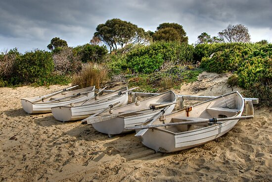 Freycinet Boats by Colin Butterworth