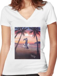 Lover's Island Women's Fitted V-Neck T-Shirt