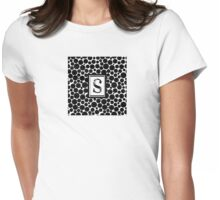 Black & White Bubble S Womens Fitted T-Shirt