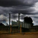 Simply Australian Cattle Yard by Michael Humphrys