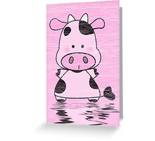 Lady Moo Moo Greeting Card