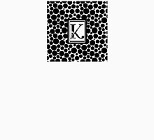 Black & White Bubble K Womens Fitted T-Shirt