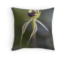 "Small Spider Orchid ""Arachnorchis parva"" Throw Pillow"