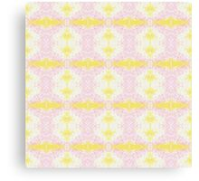 yellow and pink scribble Canvas Print