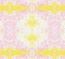 yellow and pink scribble Sticker