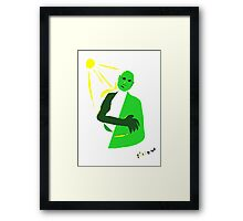Let the sun touch you... Framed Print