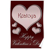 Keatoya Happy Valentines Day Poster