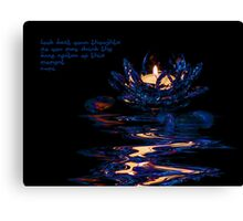 Water Lilly Candle Canvas Print