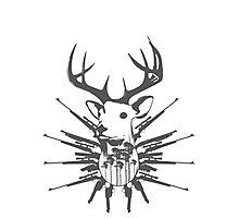 Deer hunt Photographic Print