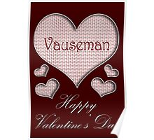 Vauseman Happy Valentines Day Poster