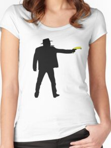 Real Cowboys Shoot Bananas! Women's Fitted Scoop T-Shirt