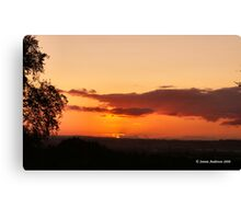 Behind the Clouds Canvas Print