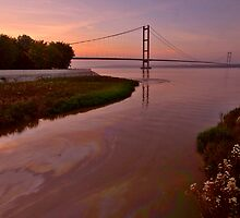 SUNSET ON THE HUMBER ESTUARY by MIKESCOTT