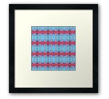 blue and red stripes Framed Print