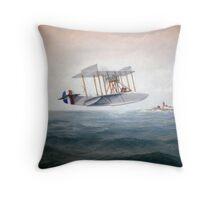 Curtiss Flying Boat Throw Pillow
