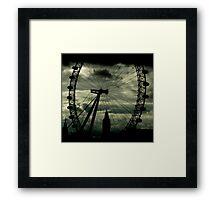 Through the eye darkly Framed Print