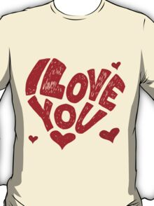 i love you? red T-Shirt