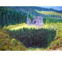 Elibank Castle, Tweed Valley below Walkerburn  Photographic Print
