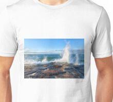 Wave Splash on Lake Superior Unisex T-Shirt