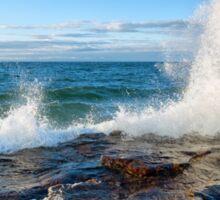 Wave Splash on Lake Superior Sticker