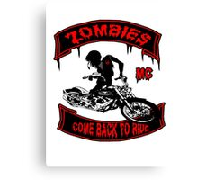 Zombies Bikers Canvas Print