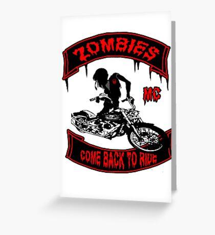 Zombies Bikers Greeting Card