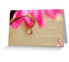 PINK Collection for the Cure - She's a Survivor Greeting Card