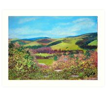 Looking South from Peebles Hydropathic Hotel Art Print