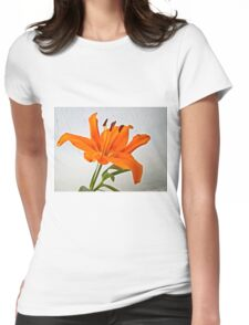 Orange Lily 2 Womens Fitted T-Shirt